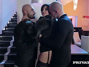 Anna Polina takes care of 2 insatiable guys