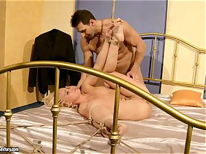 torrid Kathia Nobili gets her gash packed with man rod