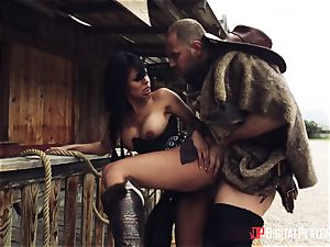 Latina outlaw gets humungous impaler in the middle of a massacre