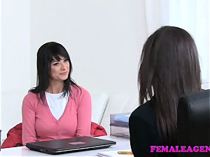 woman Agent wonderful girl/girl sofa bang-out ejaculations with strapon