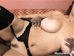 gigantic jug Mature bi-racial orgy With Persia Monir