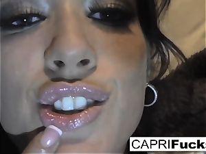 Capri Cavanni play with her moist poon