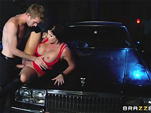 busty beauty has intercourse with a stranger dude, and her spouse looks