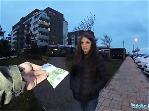 Public Agent sexy bashful Russian honey romped by a stranger
