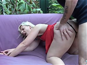 LaCochonne - ash-blonde whore Candys enjoys a great ass fucking drill