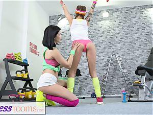 fitness apartments Pert diminutive teenage gym dolls