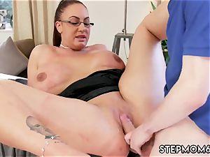 Step mummy bought me a stripper big titty Step-Mom Gets a massage