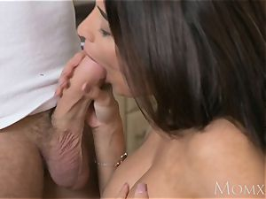 mummy French brown-haired Anissa Kate pokes the plumber
