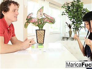 Marica gets an English lesson with a thick penis twist
