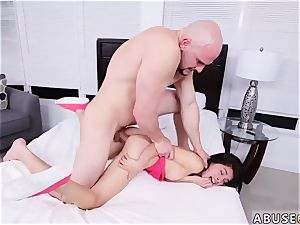 aggressive raunchy Kira Adams gets a yam-sized facial after tough fucky-fucky
