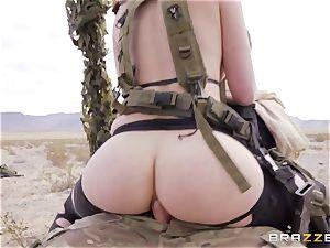 iron Gear Solid 5 buttfuck porno parody with nasty dark haired Casey Calvert