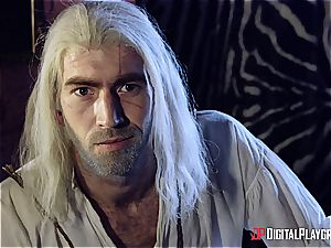 Danny D fools around as Geralt and plows black-haired stunner