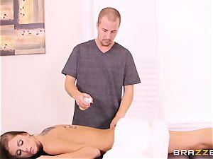 slender ultra-cutie Whitney Westgate nailed on the massage table