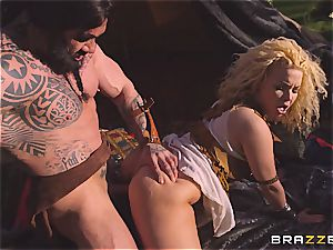 Game of Thrones parody with boobylicious Peta Jensen and Aruba Jasmin