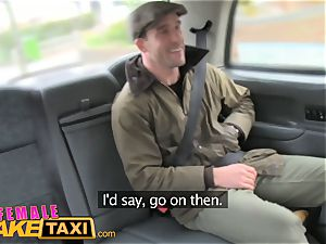 gal fake taxi nervous farmer can't please driver