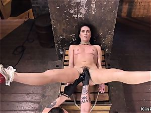 furry cunny brunette whipped in hogtie
