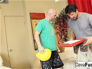 Dava and Ava drill their handymen