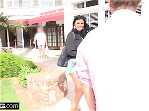 Jasmine Jae brings her fellow toy along for a pov poking