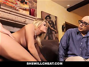 hotwife hubby watches Wifes puss Get ruined
