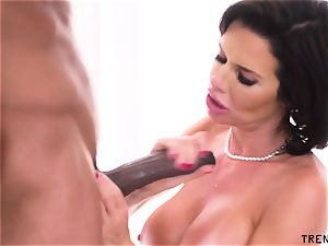 big-titted cougar deepthroats black beef whistle
