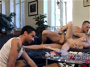 milky Coopers 1st hard-core 3 way and