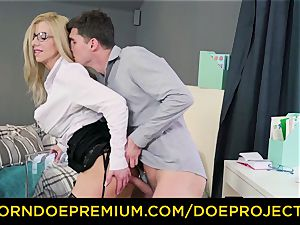 crazy instructor - big-chested milf gets smashed by her college girl