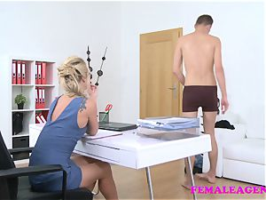 FemaleAgent light-haired wild agent sucks plumbs boys meatpipe