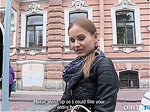 jaw-dropping Russian Sabrina heads to a surprise porn shooting