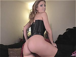 Angela Sommers unclothes providing wank off instructions