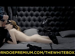 THE white BOXXX slim platinum-blonde naughty hookup with tormentor