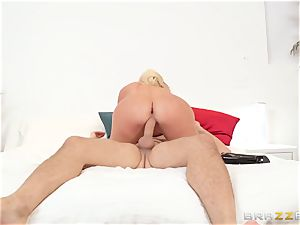 My wife's obscene giant culo step-sister Nicolette Shea riding my dick in the matrimonial couch