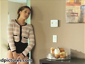 Gracie Glam catches her dude plumbing Brynn Tyler