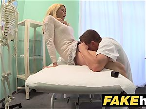 fake hospital filthy doc gives blonde Czech honey