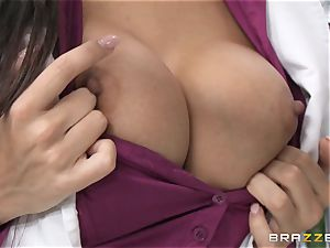 doctor Mercedes Carrera works wonders with her boobs