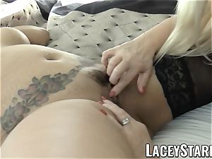 LACEYSTARR - business GILF tongue probes youthfull coochie