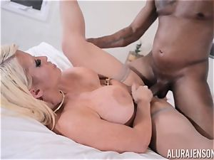 multiracial pussy wedged Alura Jenson with immense black sausage