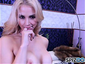Sarah Vandella fellating and banging a meaty cock
