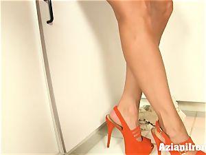 Brandi enjoy undresses, talks messy and fingers herself
