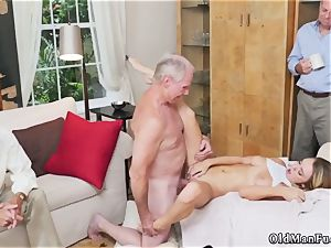 old platinum-blonde cougar bangs youthful lady very first time Molly Earns Her Keep