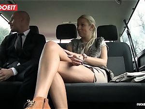 porked In Traffic - molten Czech blonde ravages in the car
