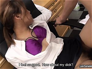 pummeled in the office in her supah unshaved wet cunny