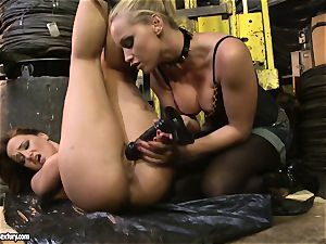 Andy brown and Kathia Nobili butt dildoing stiff