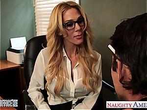 tatted blonde Sarah Jessie plow in the office