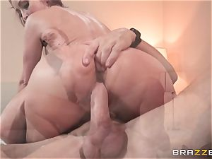 Monique Alexander packed ball-sac deep in her cock-squeezing muffhole
