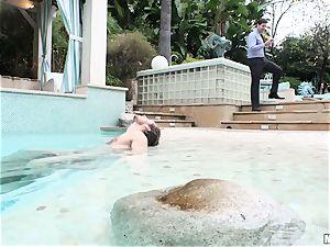 Pool poking sack deep mischievous humid cutie Lyra Law