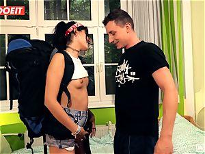LETSDOEIT - wild Traveler pounds successful German In Hostel