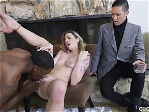 dark-hued stud nails his manager bitchy wifey Dahlia Sky