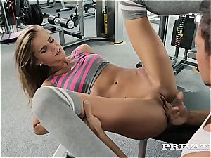 light-haired Sarah Kay Gets butt-banged in the Gym