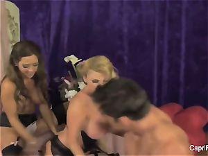 Capri Cavanni and Taylor take on a man rod