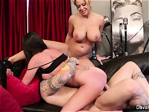 point of view deepthroating and drilling with Dava Foxx and Alyssa Lynn